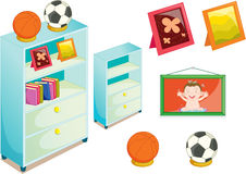 Objects. Illustration of various objects on white Stock Photos