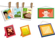 Objects. Illustration of various objects on white Royalty Free Stock Image