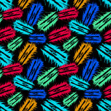 Objects abstract graffiti on a black background seamless pattern. (vector eps 10 Royalty Free Illustration