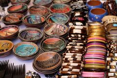 Objects at african market Royalty Free Stock Photography