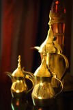 Objects: Arabic coffee pots. Arabic coffee pots (dallah) decorating home Stock Image