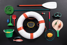 Objects associated with the seaside Royalty Free Stock Photos