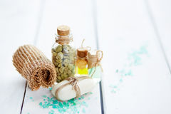Objects for beauty spa Royalty Free Stock Image