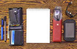 Objects for business. Tools for business, the topic of professional activity Royalty Free Stock Photo