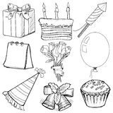 Objects for celebration Royalty Free Stock Images