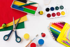Objects for the children. Royalty Free Stock Photo