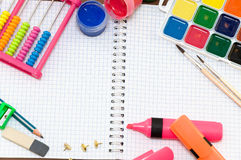 Objects for childrens creativity Royalty Free Stock Images