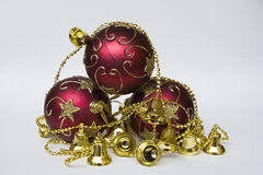 Objects for the Christmas tree Royalty Free Stock Photos