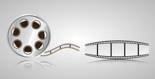 Objects for cinematography film strip roll. royalty free illustration