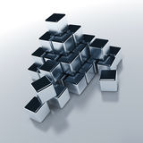 Objects of the cubic form Royalty Free Stock Image