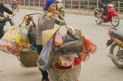 Objects of devotion Saleswoman stock photo