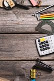 Objects for education, school supplies, office Stock Photos