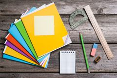 Objects for education, school supplies, office Royalty Free Stock Photography