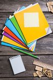 Objects for education, school supplies, office Stock Photo