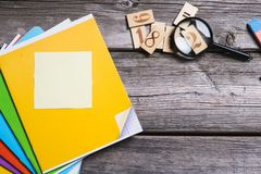 Objects for education, school supplies, office Royalty Free Stock Images