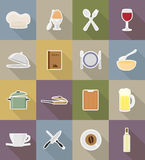 Objects and equipment for the food vector illustration Stock Photography