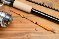 Objects for fishing Stock Photos