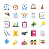 Objects Flat Icons Royalty Free Stock Photos