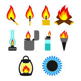 Objects giving fire Stock Photos