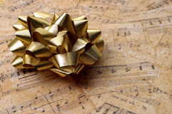 Objects - Golden Musical Gift Stock Images