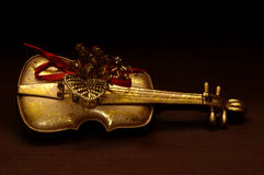 Objects - Golden Violin Royalty Free Stock Photo