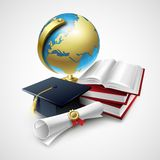 Objects for graduation ceremony. Vector. Illustration  EPS 10 Royalty Free Stock Images