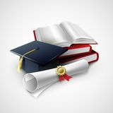 Objects for graduation ceremony. Vector. Illustration  EPS 10 Stock Photography