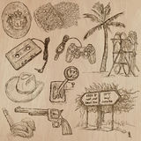 Objects - an hand drawn vector pack. Stock Image