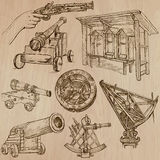 Objects - An hand drawn vectors. Converted Royalty Free Stock Photography