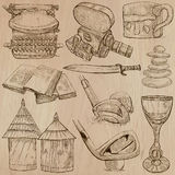 Objects - An hand drawn vectors. Converted Royalty Free Stock Images