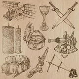 Objects - An hand drawn vectors. Converted Royalty Free Stock Photo