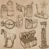 Objects - An hand drawn vectors. Converted Stock Photo