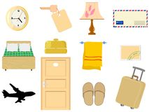 Objects of hotel Stock Image