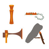 Objects for hunting baits and traps Stock Images