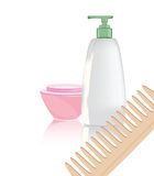 Objects of hygiene. Illustration of the objects of hygiene against the white background Royalty Free Stock Photography