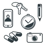 Objects. Icon and media is suitable for web, presentation etc Stock Photography