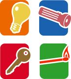 Objects Icon Set Royalty Free Stock Photography