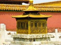 Objects inside Beijing Forbidden City. Ancient golden objects inside Beijing Forbidden City in Beijing China stock photos
