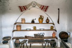 Objects in interior at one traditional romanian farmhouse Stock Photo