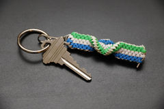 Objects: Key and lanyard Royalty Free Stock Photography