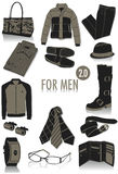 Objects for men silhouettes 2 vector illustration