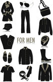 Objects for men silhouettes Stock Photos