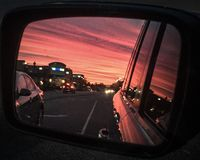 Objects In The Mirror Are More Beautiful Than They Appear Royalty Free Stock Images