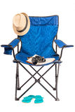 Objects for outdoor recreation on a white background Royalty Free Stock Photo