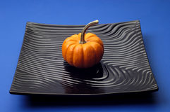 Objects - Pumpkin on Plate Stock Photos