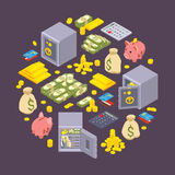 Objects related to finance Stock Photo