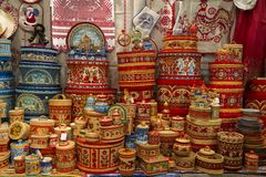 The objects of Russian folk art and crafts, Arkhangelsk oblast. Russia Royalty Free Stock Photography