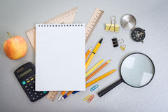 Objects schoolboy Royalty Free Stock Photo