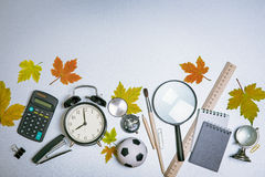 Objects schoolboy Royalty Free Stock Images