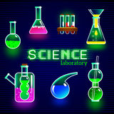 Objects of science laboratory. Royalty Free Stock Image